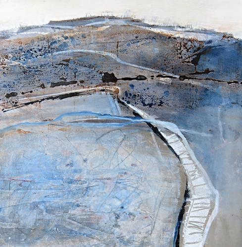 Renate Migas, Winterbild-II, Landscapes: Winter, Poetry, Contemporary Art, Expressionism