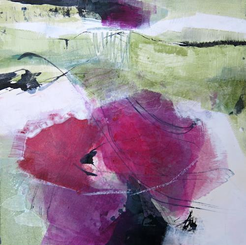 Renate Migas, Bougainvillea, Nature, Poetry, Contemporary Art, Abstract Expressionism