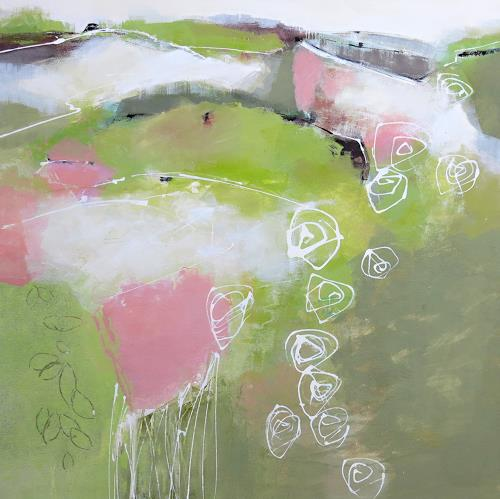 Renate Migas, Spring is in the air, Landscapes: Spring, Poetry, Contemporary Art, Expressionism