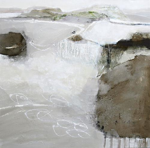 Renate Migas, Weiße Stille, Landscapes: Winter, Poetry, Contemporary Art, Expressionism