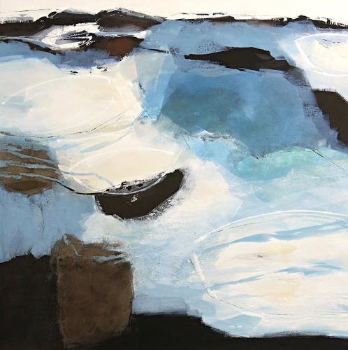 Renate Migas, Alles im Fluss, Nature: Water, Poetry, Contemporary Art, Expressionism