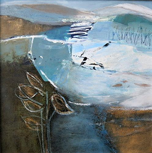 Renate Migas, 4er-Serie-winter time, Landscapes: Winter, Poetry, Contemporary Art