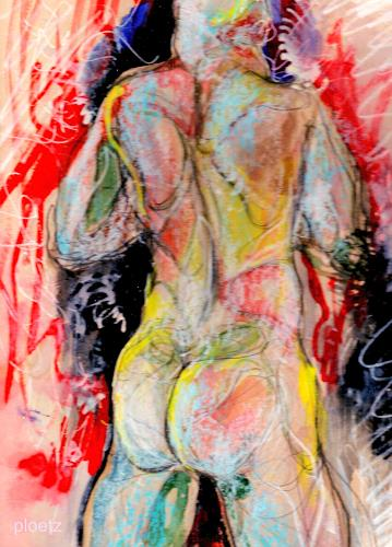 Elena Ploetz, Strong, Erotic motifs: Male nudes, People: Men, Contemporary Art, Abstract Expressionism