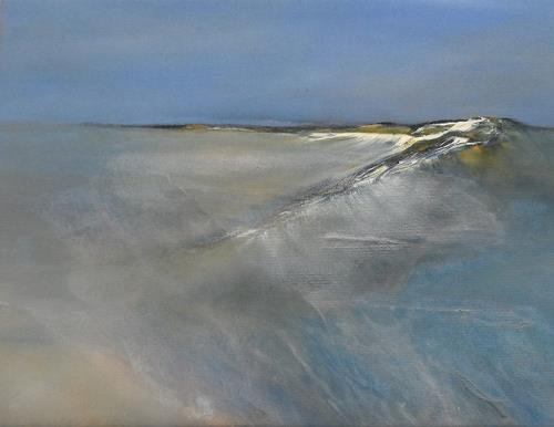 Kerstin Weber, abstrahierte Landschaft, Landscapes: Sea/Ocean, Contemporary Art, Expressionism