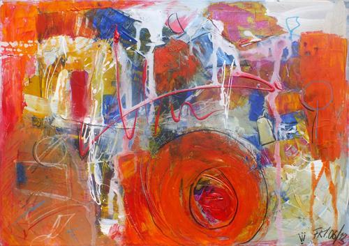 Frauke Klinkforth, Turbolenzen, Abstract art, Post-Surrealism