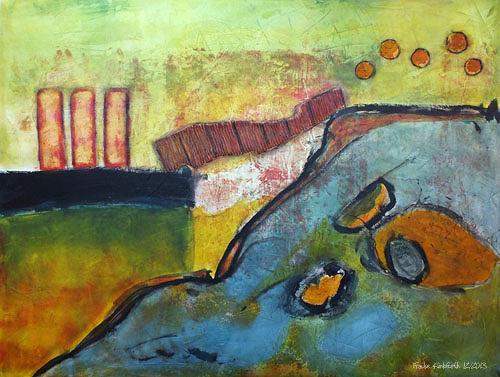 Frauke Klinkforth, Über die Brücke, Abstract art, Miscellaneous Buildings