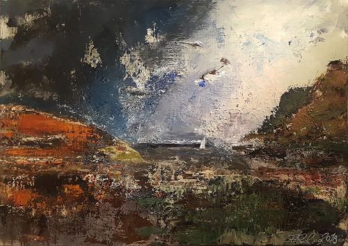 Frauke Klinkforth, Landschaft 1, Landscapes, Landscapes: Sea/Ocean, Abstract Art