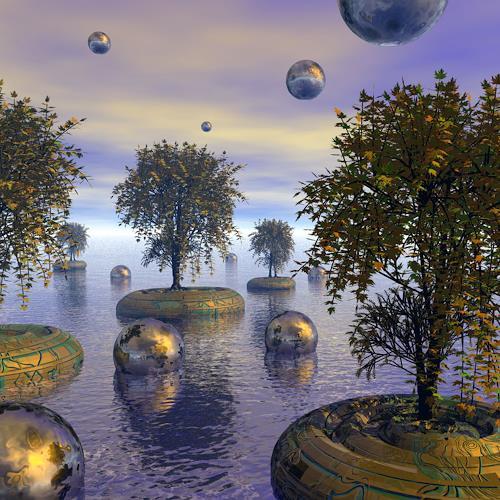 diuno, Weltnaturerbe, Fantasy, Nature: Wood, Post-Surrealism, Abstract Expressionism
