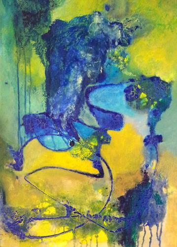 Elke Hildegard Qual, Flußdelta, Abstract art, Neue Wilde