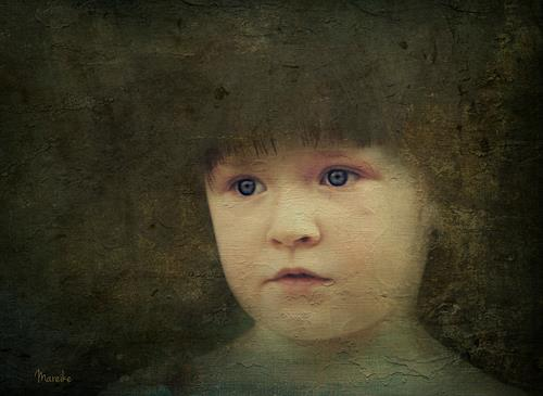 Heike Hultsch, Marie, People: Children, Emotions: Safety, Photo-Realism, Expressionism