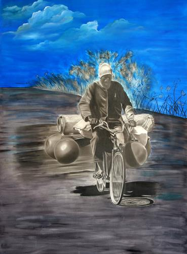 Jorge Melício, The pedalboard and the man, People: Men, Traffic: Bicycle, Hyperrealism