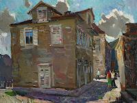 Juliya-Zhukova-Buildings-Houses-Landscapes-Summer-Modern-Times-Realism
