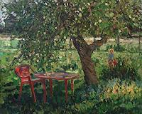 Juliya-Zhukova-Landscapes-Summer-People-Children-Modern-Age-Impressionism
