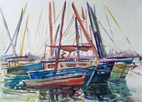 Juliya-Zhukova-Landscapes-Tropics-Nature-Water-Modern-Age-Impressionism-Post-Impressionism