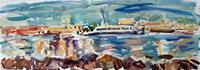 Juliya-Zhukova-Landscapes-Beaches-Nature-Water-Modern-Age-Impressionism-Post-Impressionism