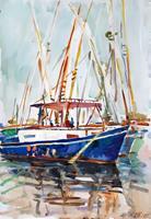 Juliya-Zhukova-Nature-Water-Romantic-motifs-Sunset-Modern-Age-Impressionism-Post-Impressionism