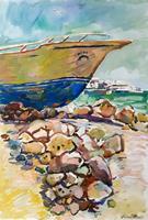 Juliya-Zhukova-Landscapes-Sea-Ocean-Landscapes-Tropics-Modern-Age-Impressionism-Post-Impressionism