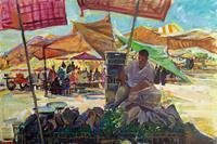 Juliya-Zhukova-People-Group-Market-Modern-Age-Impressionism-Post-Impressionism