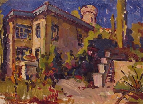 BelS, Southern town, Landscapes: Summer, Realism, Expressionism