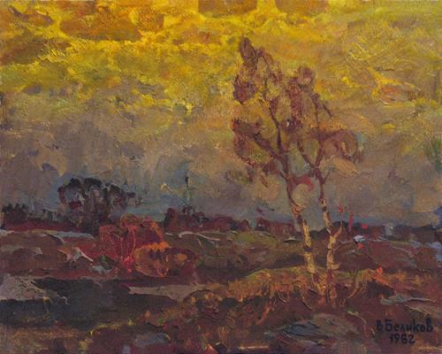 BelS, Dull evening, Landscapes: Summer, Realism, Expressionism