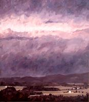 Daniel-Wimmer-Landscapes-Mountains-Landscapes-Autumn-Modern-Age-Impressionism-Neo-Impressionism
