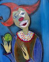 H. Schick, Clown mit Ball