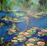 Hiltrud-Schick-Landscapes-Sea-Ocean-Nature-Water-Modern-Age-Impressionism