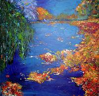 Hiltrud-Schick-Plants-Trees-Nature-Water-Modern-Age-Impressionism