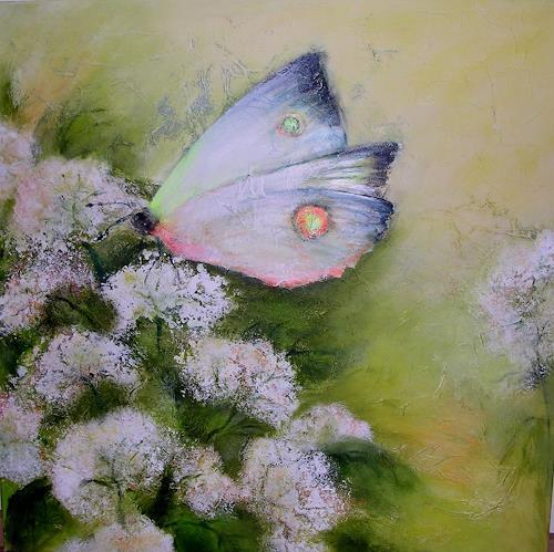 Hiltrud Schick, Schmetterling flieg, Nature: Miscellaneous, Animals: Air, Contemporary Art, Expressionism