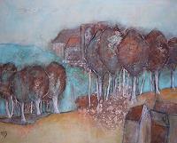 H. Schick, Landschaft in Rost