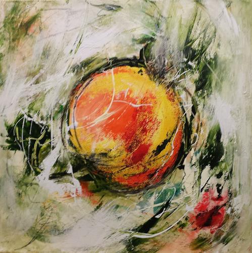 Hiltrud Schick, Apfel, Nature, Fantasy, Contemporary Art