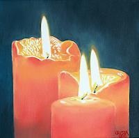C. Mayer, drei orange kerzen