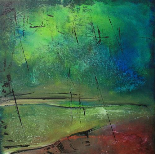 Jeannette Erb, Nah und Fern, Abstract art, Abstract Art, Expressionism