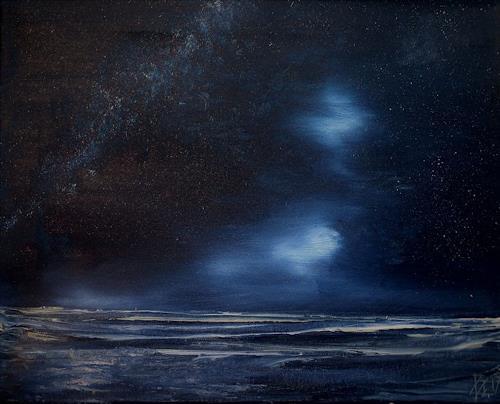 Henri Lehmann, NAH DEN HEBRIDEN 2, Landscapes: Sea/Ocean, Contemporary Art, Expressionism