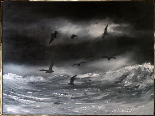henri lehmann, Der frühe Morgen, Landscapes, Animals: Water, Contemporary Art, Expressionism