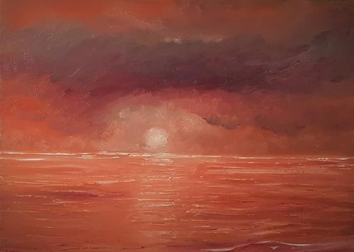 Henri Lehmann, étreint en rouge.. von rot umarmt.., Landscapes, Contemporary Art