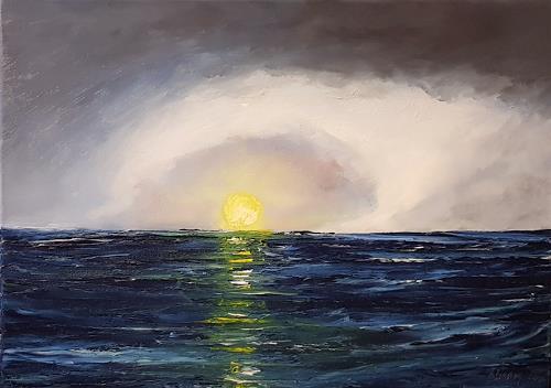 Henri Lehmann, OCEAN I, Landscapes: Sea/Ocean, Contemporary Art