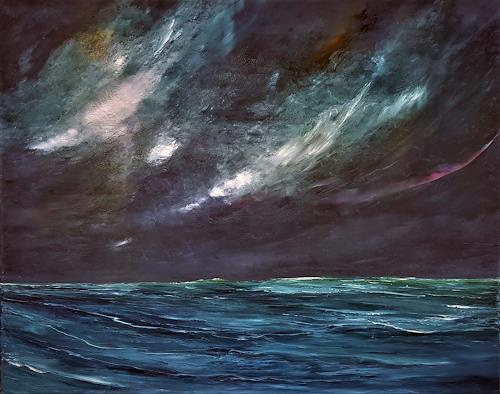 Henri Lehmann, Golfe de Gascogne (Biskaya), Landscapes: Sea/Ocean, Contemporary Art, Abstract Expressionism