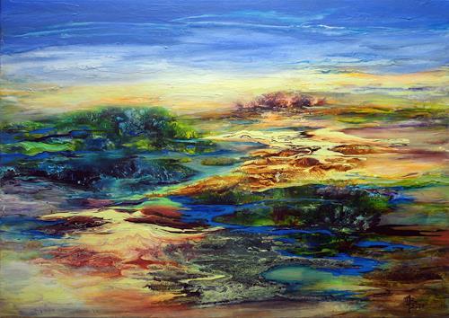 Marion Bellebna, Symphonie Delta, Nature: Miscellaneous, Miscellaneous Landscapes, Contemporary Art, Expressionism