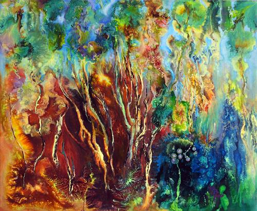 Marion Bellebna, Symphonie trees, Nature: Wood, Fantasy, Non-Objectivism [Informel], Abstract Expressionism