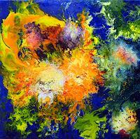 Marion-Bellebna-Plants-Flowers-Fantasy-Modern-Age-Abstract-Art-Non-Objectivism--Informel-