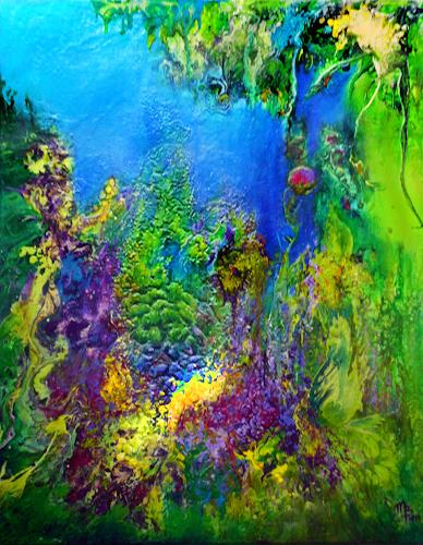 Marion Bellebna, Natur abstrakt 35, Fantasy, Plants: Flowers, Non-Objectivism [Informel], Expressionism