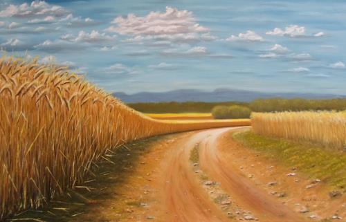 Saad, Weizenernte, Landscapes: Summer, Expressionism
