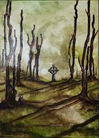 Juergen-Bley-Miscellaneous-Landscapes-Nature-Wood-Modern-Age-Avant-garde-Surrealism