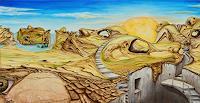 Juergen-Bley-Landscapes-Mountains-Fantasy-Modern-Age-Avant-garde-Surrealism