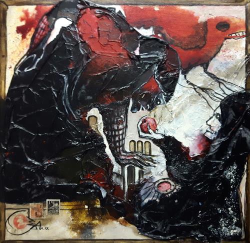 Jürgen Bley, VERSUCHUNG, Burlesque, Mythology, Abstract Art, Abstract Expressionism