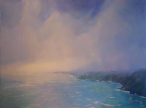 Elisabeth Ksoll, Sanfte Brandung, Landscapes: Sea/Ocean, Romantic motifs