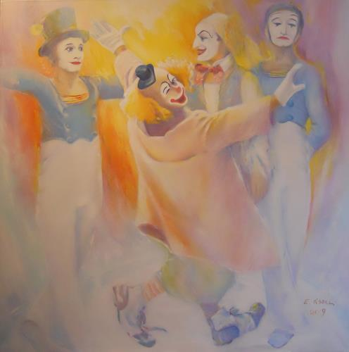 Elisabeth Ksoll, Lache Bajazzo, People, Circus, Expressive Realism, Expressionism