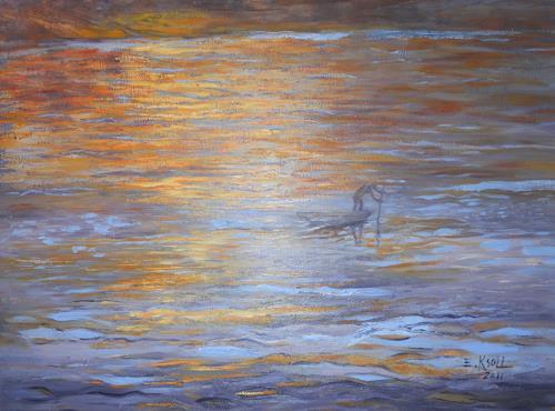 Elisabeth Ksoll, Auf dem grossen Strom, Nature, Emotions, Expressive Realism