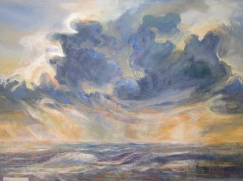 Elisabeth Ksoll, Wolkensturm, Landscapes: Sea/Ocean, Emotions